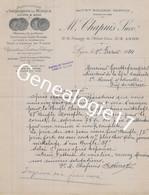 69 6685 LYON RHONE 1924 Manufacture Instrument D Musique M. CHAPUIS Succ MOLLERON RESPAUD Passage Hotel Dieu Rue Hopital - 1900 – 1949