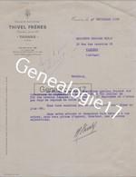 69 4894 TARARE RHONE 1938 Ets THIVEL FRERES A DIRAT - 1900 – 1949