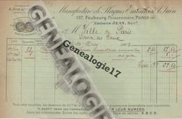 75 01563 PARIS 1902 Manufacture De Plaque Emaillée A. JUIN Succ P. CESBRON Ingenieur Des Mines 137 Fbg Poissonniere - Non Classés