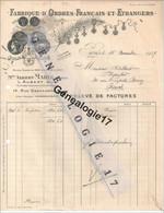 75 02337 PARIS 1938 Fabrique D Ordre Francais Medaille ALBERT MARIE Succ L. AUBERT 14 Rue Oberkampf  Dest ALBERT - Lettres De Change