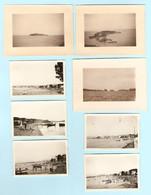 LOT De 8 PHOTOS ORIGINALES 1932 - LE BRUSC Sur MER HAMEAU De SIX FOURS Les PLAGES VAR - Lugares