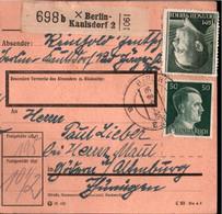 ! 1943 Berlin Kaulsdorf 2 Nach Altenburg, Paketkarte, Deutsches Reich, 3. Reich - Brieven En Documenten