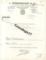 75 07280 PARIS 1966 Techniques Ceramiques L. DESMARQUEST 89 Rrue Monceau - Usine FERRIERES EN BRAY Et  EVREUX - Lab - 1950 - ...