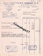 75 09128 PARIS SEINE 1960 Tables à Dessin F. DARNAY Rue Coypel - Dessin - 1950 - ...