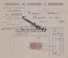 79 0697 NIORT DEUX SEVRES 1945 Charpente Menuiserie L. DOIZY Scierie Mecanique Avenue Marechal Petain A PINTOUX - France