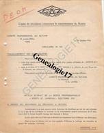 75 09449 PARIS SEINE 1952 CAMPING GAZ ( Rechaud Butane ) Avenue Kleber  Signé GRANIER DE LILLIAC à Mr SUSSE - Elektrizität & Gas