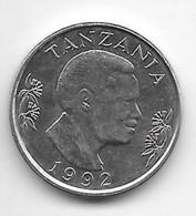 *tanzania 1 Shilling 1992  Km 22 Xf+/ms60 - Tanzania