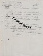 76 1068 Z LILLEBONNE SEINE INFERIEURE 1945 Restaurant  CAFE FRANCAIS Rue Pasteur Et Gambetta Signe LESUEUR DECHAMPS - Factures