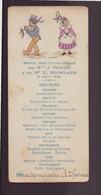 Menu Dîner De Fiançailles Du 8 Août 1926 - Menus