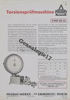 75 12829 PARIS SEINE 1967 Machine Essai Laboratoire TESTWELL Marque PROBAT D EMMERICH RHEIN Rue De La Tour D Auvergne - Pubblicitari