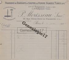 75 12864 PARIS SEINE 1924 Fabrique De Diamants à Couper P. MORISSEAU Rue Notre Dame De Nazareth à QUERRIOUX - 1900 – 1949