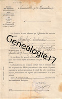 75 22167 PARIS SEINE 1919 GUERRE MINISTERE DES PENSIONS Deces BARBEY Charles Né A GREVILLIERS Inumé A VITRIMONT FRISCATI - 1900 – 1949