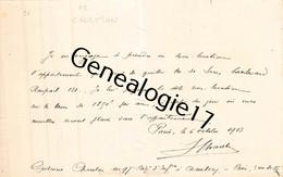 75 22034 PARIS SEINE 1913 - Carte Manuscrite Du CAPITAINE CHARENTON Regiment Infanterie A CHAMBERY - Variétés: 1931-40 Lettres & Documents
