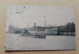 Ansichtskarte, Hamburg, Hafen, Hamburg-Amerika Linie,Schuppen, Emden - Autres