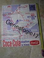 99 0356 AFFICHE CYCLISME - TOUR DE FRANCE 1965 - Publicite COCA COLA ( Ecrite )  Dim  60 X 50 Env - Posters