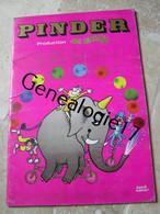 99 00374   LIVRE PROGRAMME CIRQUE  --  PINDER  -  LE CIRQUE JEAN RICHARD   - --  10 PAGES ENVIRON - Programas