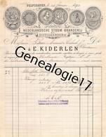 96 2407 PAYS BAS HOLLANDE HOLLAND DELFSHAVEN 1892 Distileerderij Nederlandsche Stoom Branderij E. KIDERLEN A BESSE - Holanda