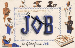 87 0478 LIMOGES HAUTE VIENNE 19.. Buvard PAPIER A CIGARETTES JOB Des Ets AU DE D ARGENT Mr S. GERAL Ou GERALD Mercerie R - G