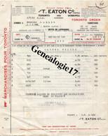 96 1421 CANADA TORONTO And WINNIPEG 1922  Ets T. C. EATON  Et PARIS Rue La Fayette à ALLEQ - Canadá