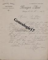87 0627 LIMOGES HAUTE VIENNE 1894 Chiffons ROUGE Ainé Faubourg Du Pont Neuf à TIXIER - 1800 – 1899