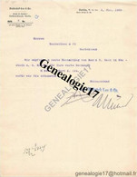 96 1004 ALLEMAGNE DEUTSCHLAND BERLIN 1902  Bank DELBRUCK LEO AND Co ( Delbrùck ) W66 Mauer Strasse - Banco & Caja De Ahorros