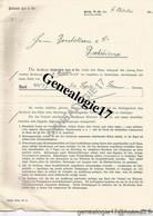 96 1003 ALLEMAGNE DEUTSCHLAND BERLIN 1908  Bank DELBRUCK LEO AND Co ( Delbrùck ) W66 Mauer Strasse - Banco & Caja De Ahorros