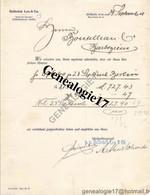 96 1002 ALLEMAGNE DEUTSCHLAND BERLIN 1908  Bank DELBRUCK LEO AND Co ( Delbrùck ) W66 Mauer Strasse - Banco & Caja De Ahorros