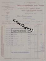 87 1262 AIXE SUR HAUTE VIENNE 1926 MANUFACTURE PATES ALIMENTAIRES DES CARMES Usine Hydraulique Vapeur AU MOULIN DE FERT - 1900 – 1949