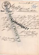 96 0014 POLOGNE BRESLAU Vin PAUL DALUGE 1905 Dest SORIN Domaine Du Mortier à SAUJON - Non Classificati