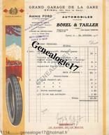 88 0504 EPINAL VOSGES 1920  Garage BOREL  TAILLER Succ CHAUVILLE Ets FORD Avenue Dutac Marque MOTO NAPHTA PETROLE JUPITE - Cars