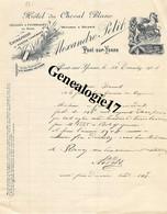 89 0343 PONT SUR YONNE 1908 HOTEL DU CHEVAL BLANC Des Ets ALEXANDRE PETIT Pailles Fourrages Pompes Funebres - Factures