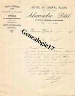89 0344 PONT SUR YONNE 1904 HOTEL DU CHEVAL BLANC Des Ets ALEXANDRE PETIT Pailles Fourrages Pompes Funebres - Factures