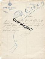 89 0345 SENS YONNE 1929 CAFE DE L ECU Des Ets G. DROIN - Factures