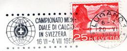 Schweiz  Fussball WM 1954  SST Auf Lugano Postkarte In Italienische Sprache - Calcio