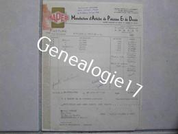 F 74 ANNECY Manufacture Articles Precision Dessin MAPED 26 Ave Parmelan 1958 Librairie SCHENCK à Tournus - Drukkerij & Papieren