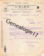 92 2167 LEVALLOIS PERRET SEINE 1922 Huiles Fournitures Industrielles L'OLEO - L ' OLEO Rue Perrier A LODS - 1900 – 1949