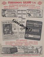 92 2215 COURBEVOIE SEINE 19..  PUBLICITE ---- Machines GALAND Bd Saint Denis - Advertising
