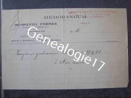 F INDOCHINE SAIGON Memorandum BONNEFOY FRERES Succ BONADE 191. - Non Classificati