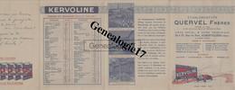 93 1100 AUBERVILLIERS SEINE - DEPLIANT 5 PAGES - Ets QUERVEL FRERES Huile KERVOLINE - PHOTO DE L USINE LABORATOIRE - Reclame