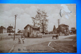 Frameries 1934: La Gare Et Le Passsage à Niveau Animée - Frameries