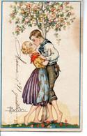 Signée A. BUSI - Petit Couple En été - Busi, Adolfo