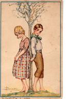 Signée A. BUSI - Petit Couple En Hiver - Busi, Adolfo
