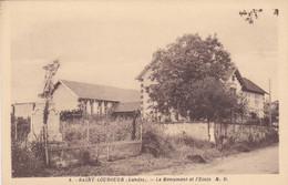 SAINT LOUBOUER ,le Monument Et L'ecole - Sonstige Gemeinden