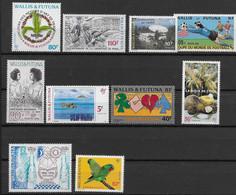 1994 Wallis Et Futuna N° 462 à 471 Nf** MNH. Année Complète ( Sauf PA) - Ungebraucht