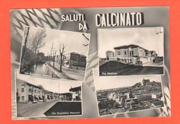 CALCINATO Brescia Vedutine Stazione Treni, Via E Piazza Marconi Viaggiata 1962 - Brescia