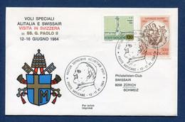 ✈️ Vatican - Premier Vol - Alitalia - Svizzera - 1984 ✈️ - Vliegtuigen