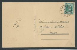 Kaart Verstuurd Uit Liernu Met Houyoux 10C - 1922-1927 Houyoux