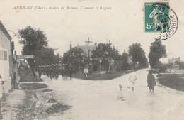 CARTE POSTALE   AUBIGNY 18  Route De Brinon,Clermont Et Argent - Aubigny Sur Nere