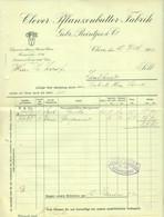 "Cleve Kleve Niederrhein 1903 Rechnung "" Clever Pflanzenbutter-Fabrik Reintjes & Co "" - Food"