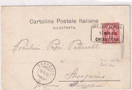 "Cancellazione Rara: ""Uff.Sviz.di Mess., Chiavenna 17 Mag.00"" Su Cartolina Di Grosio           (A-265-200611) - Marcofilie"